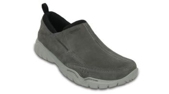 Crocs Mens Swiftwater Suede Moc